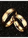 Pentru cupluri Inele Afirmatoare costum de bijuterii Oțel titan Placat Auriu Bijuterii Pentru Nuntă Petrecere Zilnic Casual Sport