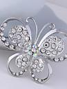 brosa femei animale cristal fluture pentru eșarfă de decorare petrecere de nunta, bijuterii fine, de culoare aleatorii