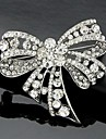 Dame Broșe La modă Cute Stil Cristal Bowknot Shape Bijuterii Pentru Nuntă Petrecere Ocazie specială Zi de Naștere Zilnic