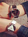 Men\'s Women\'s Couple\'s Skeleton Watch Quartz Quilted PU Leather Black / White Hollow Engraving Analog Charm Fashion - White Black Black / White