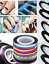 1pcs 3D Nail Stickers Foil Stripping Tape Other Decorations Nail Stamping Template Daily Abstract Fashion High Quality