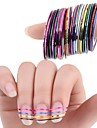 10pcs 3D Nail Stickers Foil Stripping Tape Other Decorations Nail Stamping Template Daily Abstract Fashion High Quality