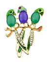 multicolori drăguț papagal mici broșă coreea stil clasic feminin