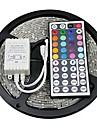 5m Fâșii RGB 300 LED-uri 5050 SMD RGB Telecomandă / Ce poate fi Tăiat / Auto- Adeziv 12 V / Schimbare - Culoare