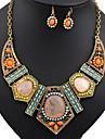 Pentru femei Turcoaz Ștras Diamante Artificiale Turcoaz Set bijuterii Include Σκουλαρίκια Coliere - Vintage Petrecere Festival /