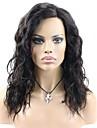Äkta hår Hel-spets Spetsfront Peruk Stora vågor 130% 150% Densitet 100 % handbundet Afro-amerikansk peruk Naturlig hårlinje Korta Mellan