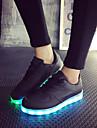 Femme Chaussures Similicuir Printemps / Ete / Automne Chaussures Lumineuses Talon Plat Lacet Noir