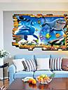 Blommig Väggklistermärken Väggstickers i 3D Dekrativa Väggstickers Fotostickers, Vinyl Hem-dekoration vägg~~POS=TRUNC Vägg