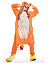 Pyjama Kigurumi  Dragon Combinaison Pyjamas Costume Polaire Orange Cosplay Pour Adulte Pyjamas Animale Dessin anime Halloween Fete /