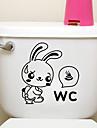 creative mici autocolante iepure de toaletă