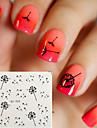 5 Vattenövergångsklistermärke 3D Nail Stickers Blomma Tecknat Mode Dagligen Hög kvalitet