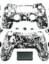 înlocuire caz controler pentru controler PS4 (alb-negru cap fantomă)