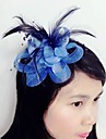 Femei Pană Tul Net Diadema-Nuntă Ocazie specială Pălărioare 1 Bucată