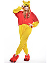 Pijama Kigurumi Urs Pijama Întreagă Costume Lână polară Galben Cosplay Pentru Sleepwear Pentru Animale Desen animat Halloween Festival /