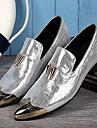 Bărbați Pantofi Piele Primăvară Vară Toamnă Iarnă Noutăți Oxfords Vârf Metalic Pentru Nuntă Party & Seară Argintiu Auriu