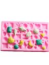 ミニ宝石型のフォンダンケーキチョコレートシリコーン型、カップケーキのデコレーションツール、l12cm * w7.5cm * h1cm