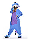 kigurumi Pyjamas Ane Costume Bleu Polaire Kigurumi Collant / Combinaison Cosplay Fete / Celebration Pyjamas Animale Halloween Mosaique