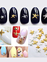 Vackert-Finger / Tå-Andra Dekorationer- avAndra-50pcs Mix color sizes Starfish Nail Decorations- styck3mm and 5mm- cm