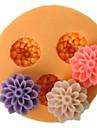 Flori trei celule mici de flori de mucegai silicon Fondant Pres forme de zahăr Meșteșug Instrumente Resin Mucegai matrite pentru Torturi