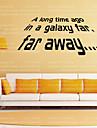 Ord & Citat fantasi Väggklistermärken Ord & Citat Väggdekaler Dekrativa Väggstickers, Vinyl Hem-dekoration vägg~~POS=TRUNC Vägg