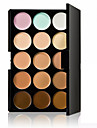 15 farver Khaki Concealer / Contour Tør / Våd / Kombination Åndbart / Blegende / Concealer Ansigt Kina Naturlig Makeup Kosmetiske