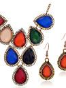 Dame Seturi de bijuterii Colier / cercei Modă Nuntă Petrecere Ocazie specială Zi de Naștere Piatră Preţioasă Ștras Picătură Σκουλαρίκια