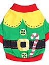 Kat Hond kostuums T-shirt Hondenkleding Rood Groen Katoen Kostuum Voor Lente & Herfst Zomer Heren Dames Cosplay Modieus Halloween