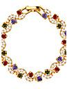 Dame Brățări cu Lanț & Legături Cristal Cristal Zirconiu Placat Auriu Auriu Bijuterii 1 buc