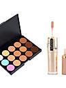 Concealer Khaki Concealer / Contour Tør / Mat / Glans Blegende / Dekning / Olie kontrol Ansigt Makeup Kosmetiske