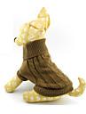 Kat Hond Truien Hondenkleding Effen Bruin Wollen Kostuum Voor Lente & Herfst Winter Heren Dames