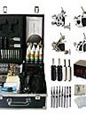 Komplett tatueringsutrustning 4 x stål tatueringsmaskin för linjer och skuggning 4 Tatueringsmaskiner LCD strömförsörjningBläck levereras