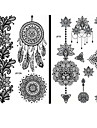 15 pcs Temporary Tattoos Waterproof / Lace / Non Toxic Face / Hand / brachium Paper Tattoo Stickers / Pattern / Lower Back
