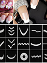 18 sheets set french manicure diy nail art tips guides stickers stencil strip