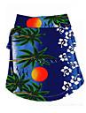Chien Tee-shirt Vetements pour Chien Bande dessinee Jaune Bleu Arc-en-ciel Coton Costume Pour Ete Homme Vacances