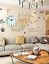 Nouveaute / Autres Moderne/Contemporain Horloge murale,Fleurs / Botaniques / Animaux / Paysage / Mariage / Famille Verre / Metal82cm x