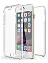 Pentru iPhone X iPhone 8 iPhone 6 iPhone 6 Plus Carcase Huse Anti Șoc Transparent Corp Plin Maska Culoare solidă Moale TPU pentru iPhone