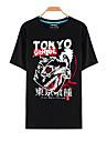 Inspirat de Tokyo Ghoul Ken Kaneki Anime Costume Cosplay Cosplay T-shirt Imprimeu Manșon scurt Vârf Pentru Bărbați