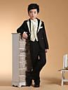 Negru/Argintiu Negru+Auriu Bumbac Costum Cavaler Inele - 6 Include Jacketă Pantaloni Vestă Brâu Papion Cămașă