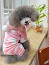 Katt Hund Huvtröjor Jumpsuits Pyjamas Hundkläder Gulligt Ledigt/vardag Prickig Svart Rosa Kostym För husdjur