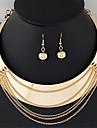 Dame Seturi de bijuterii Cercei Rotunzi  Colier / cercei La modă Bijuterii Statement Stil Punk European Circle Shape Coliere Σκουλαρίκια