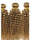 Brasilianskt hår Curly Weave Lockigt Hårförlängning av äkta hår 3 delar 0.3