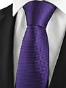 Bărbați Carouri Petrecere Birou De Bază, Bumbac Celofibră Poliester - Cravată
