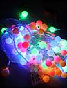 10m a condus lumini șir cu lampă festival de decorare de vacanță de Crăciun AC220V 100led mingii în lumini de iluminat exterior