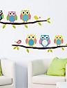 Djur Stilleben Mode Fritid Väggklistermärken Väggstickers Flygplan Dekrativa Väggstickers, pvc Hem-dekoration vägg~~POS=TRUNC Vägg
