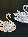Pentru femei Fete Broșe Cristal Modă Lebădă Animal Argintiu Auriu Bijuterii Pentru Nuntă Petrecere Zilnic