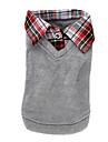 Chien Tee-shirt Pull Gris Vetements pour Chien Hiver Printemps/Automne Britannique Mode Decontracte / Quotidien