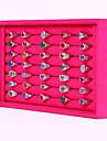 Cutii de Bijuterii Prezentări de Bijuterii Nailon Square Shape Roze Negru-Alb