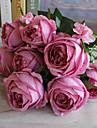 1 1 ramură Poliester / Plastic Trandafiri Față de masă flori Flori artificiale 22.4*3.9inch/57*10cm