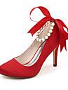 Dame - Pantofi de nunta - Tocuri / Vârf Rotund - Pantofi cu Toc - Nuntă / Party & Seară - Negru / Albastru / Roz / Roșu / Fildeș / Alb