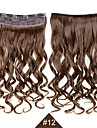 Cheveux Synthetiques Extension des cheveux Ondule A Clipser Quotidien Haute qualite